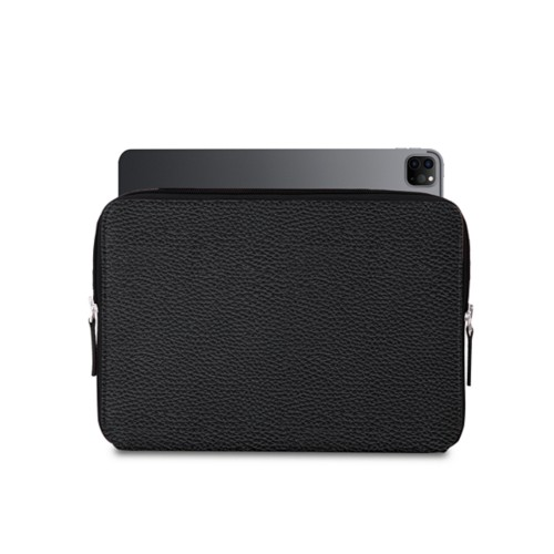 """Zipped Case for iPad Pro 12.9"""" 2018 - Black - Granulated Leather"""