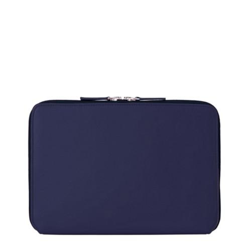 """Funda Con Cremallera Para iPad Pro 12.9"""" 2018 - Azul marino  - Piel Liso"""