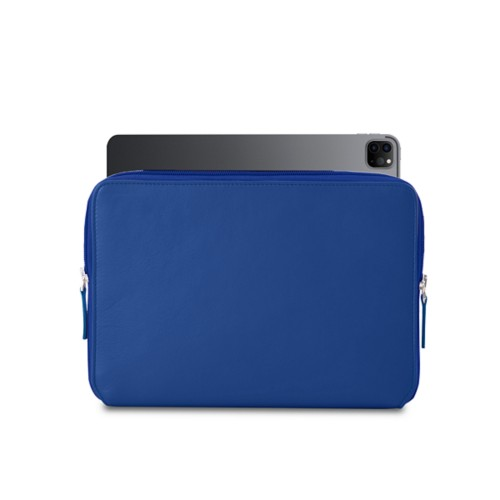"""Zipped Case for iPad Pro 12.9"""" 2018 - Royal Blue - Smooth Leather"""