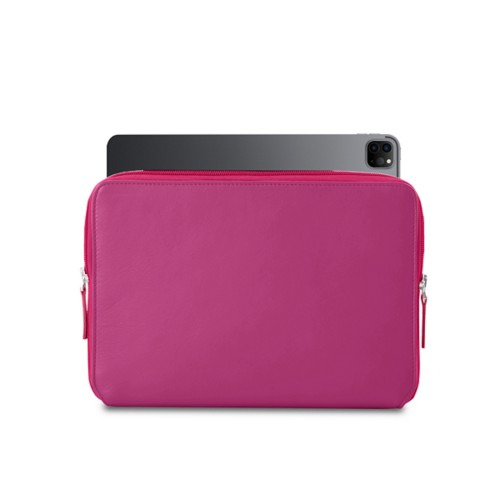 "Zipped Case for iPad Pro 12.9"" 2018 - Fuchsia  - Smooth Leather"