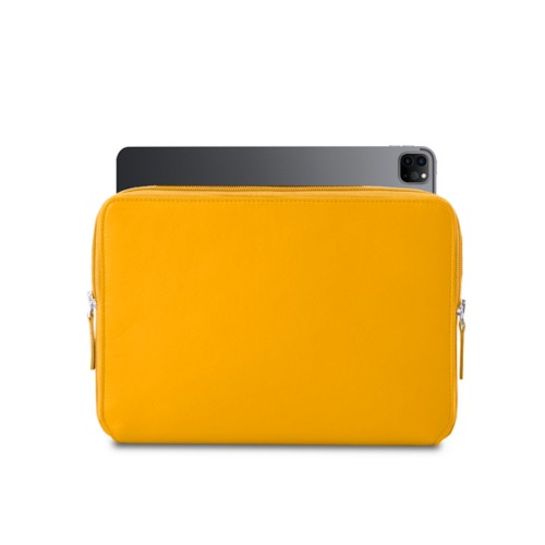 "Zipped Case for iPad Pro 12.9"" 2018 - Sun Yellow - Smooth Leather"