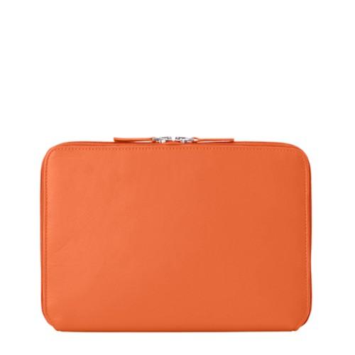"Funda Con Cremallera Para iPad Pro 12.9"" 2018 - Naranja - Piel Liso"