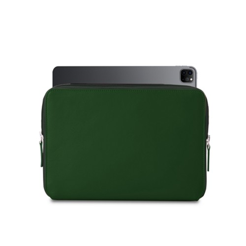 "Zipped Case for iPad Pro 12.9"" 2018 - Dark Green - Smooth Leather"