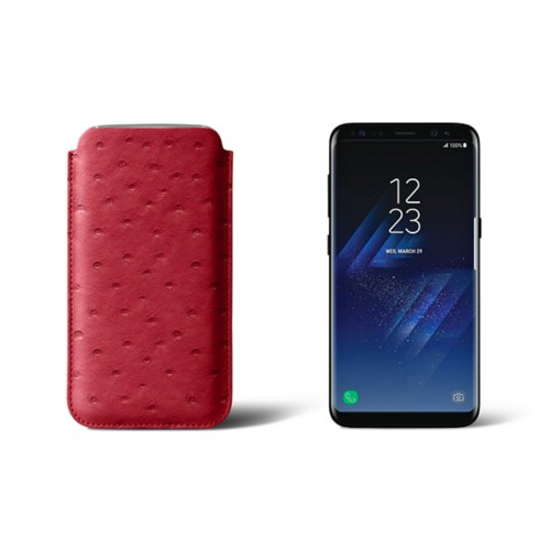 Classic Case for Samsung Galaxy S8 - Red - Real Ostrich Leather