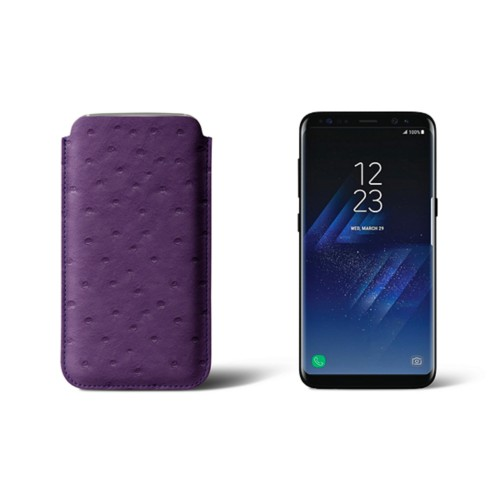 Classic Case for Samsung Galaxy S8 - Purple - Real Ostrich Leather