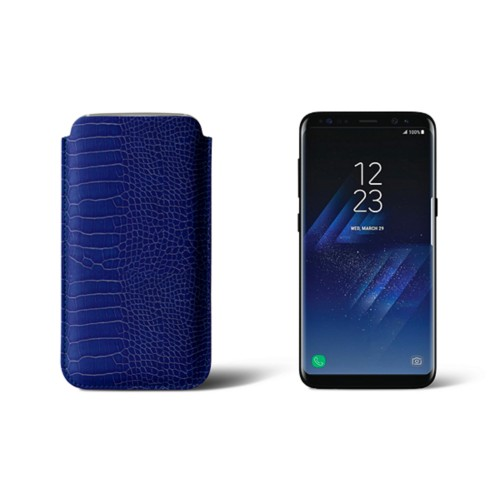 Classic Case for Samsung Galaxy S8 - Royal Blue - Crocodile style calfskin