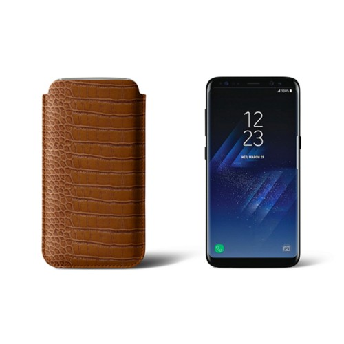 Classic Case for Samsung Galaxy S8 - Camel - Crocodile style calfskin