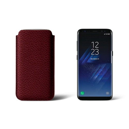 Classic Case for Samsung Galaxy S8 - Burgundy - Granulated Leather