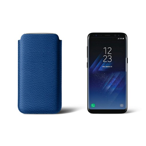 Classic Case for Samsung Galaxy S8 - Royal Blue - Granulated Leather