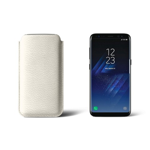 Classic Case for Samsung Galaxy S8 - Off-White - Granulated Leather