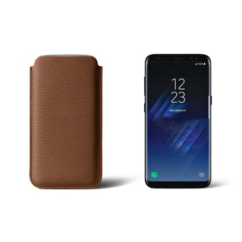 Classic Case for Samsung Galaxy S8 - Tan - Granulated Leather