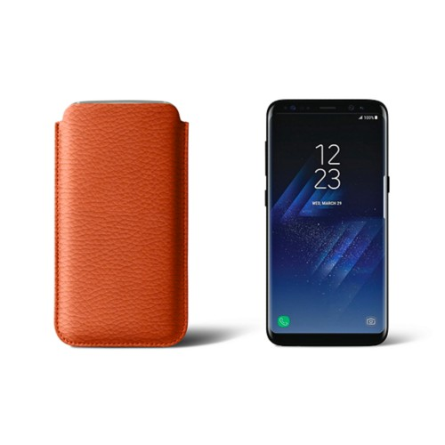 Classic Case for Samsung Galaxy S8 - Orange - Granulated Leather