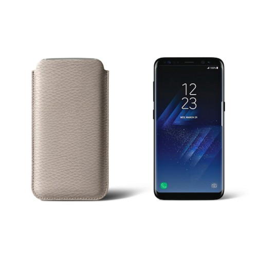 Classic Case for Samsung Galaxy S8 - Light Taupe - Granulated Leather