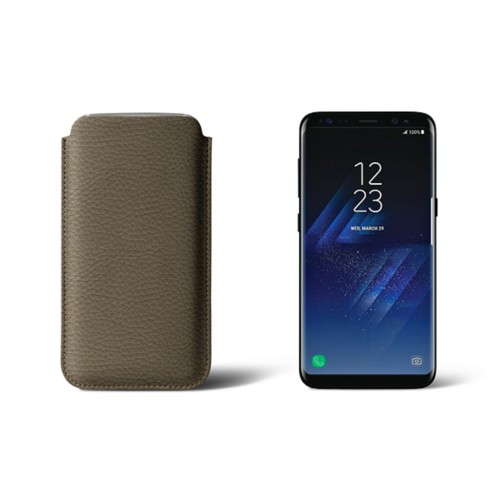 Classic Case for Samsung Galaxy S8 - Dark Taupe - Granulated Leather