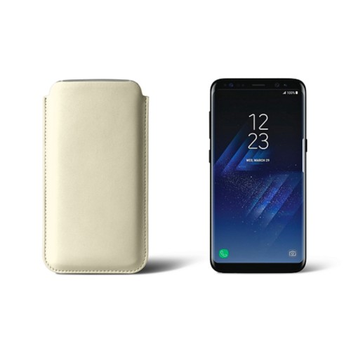 Classic Case for Samsung Galaxy S8 - Off-White - Smooth Leather