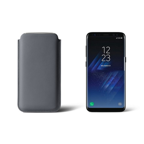 Classic Case for Samsung Galaxy S8 - Mouse-Grey - Smooth Leather