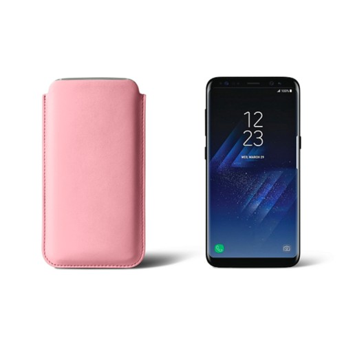 Classic Case for Samsung Galaxy S8 - Pink - Smooth Leather