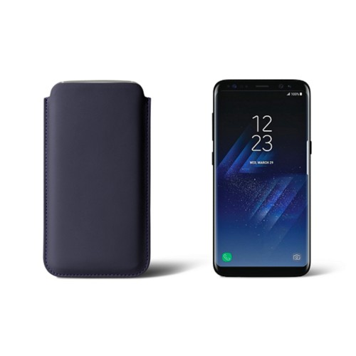 Classic Case for Samsung Galaxy S8 - Purple - Smooth Leather