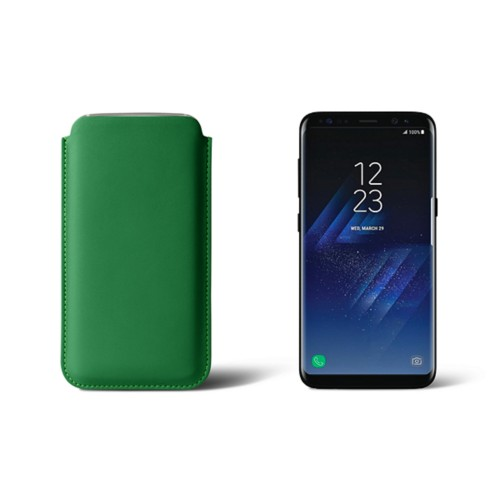 Classic Case for Samsung Galaxy S8 - Light Green - Smooth Leather