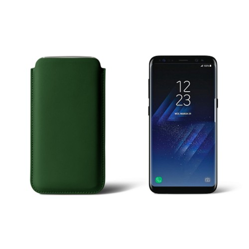 Classic Case for Samsung Galaxy S8 - Dark Green - Smooth Leather