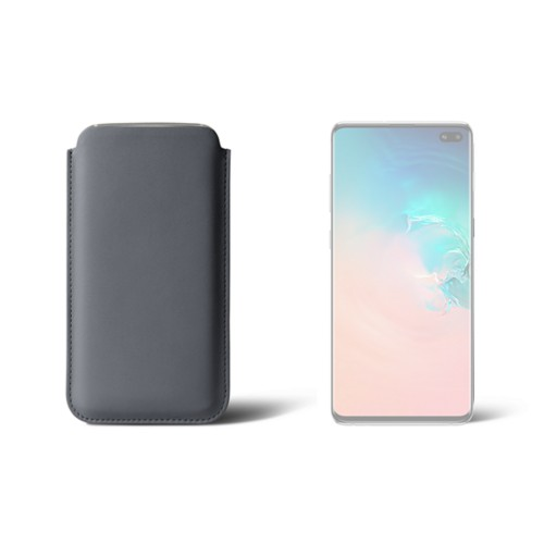 Simple sleeve for S8+ - Mouse-Grey - Smooth Leather
