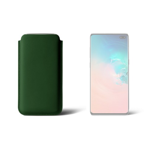 Simple sleeve for S8+ - Dark Green - Smooth Leather