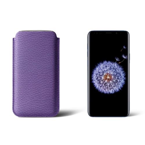 Sleeve voor Samsung Galaxy S9+ - Lavendel - Korrelig Leer