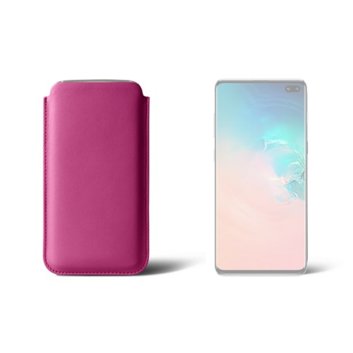 Classic case for Samsung Galaxy S10 Plus - Fuchsia  - Smooth Leather