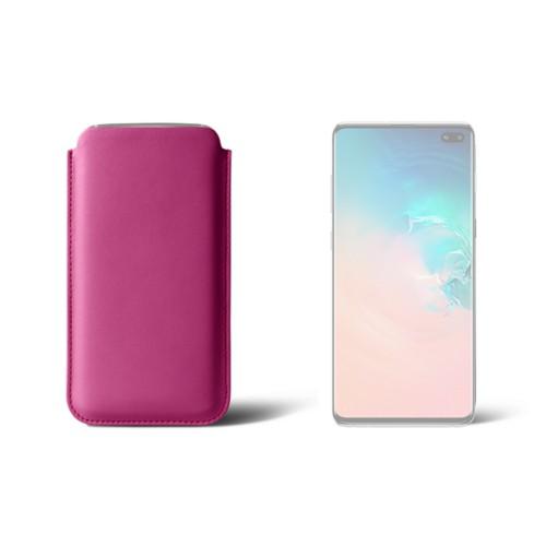 Funda clásica para el Samsung Galaxy S10 Plus - Fuchsia  - Piel Liso