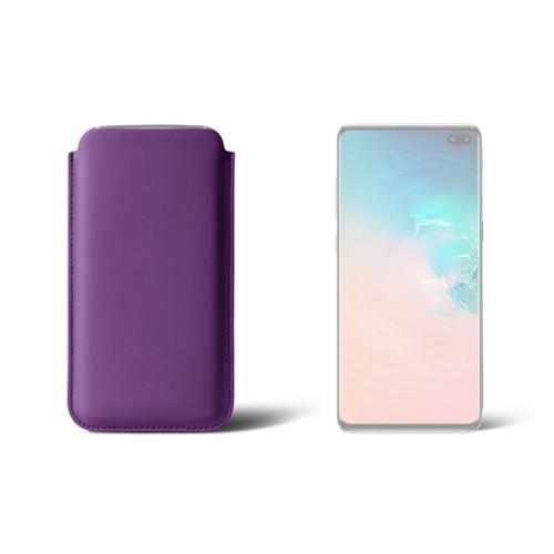 Klassiek hoesje voor de Samsung Galaxy S10 Plus - Lavendel - Soepel Leer