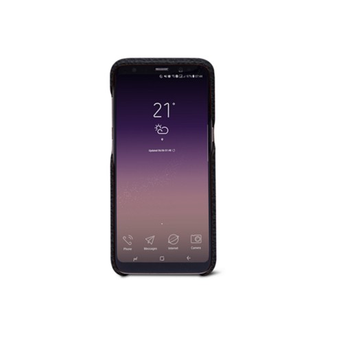 Samsung Galaxy S8 Cover - Navy Blue - Granulated Leather