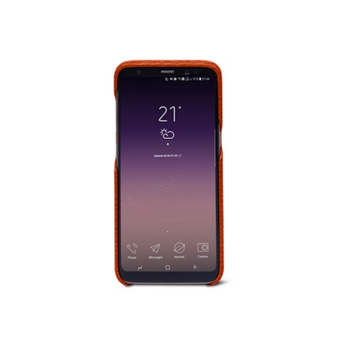 Samsung Galaxy S8 Cover - Orange - Granulated Leather