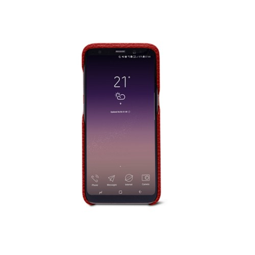 Samsung Galaxy S8 Cover - Red - Granulated Leather