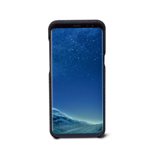 Samsung Galaxy S8+ Cover - Navy Blue - Granulated Leather