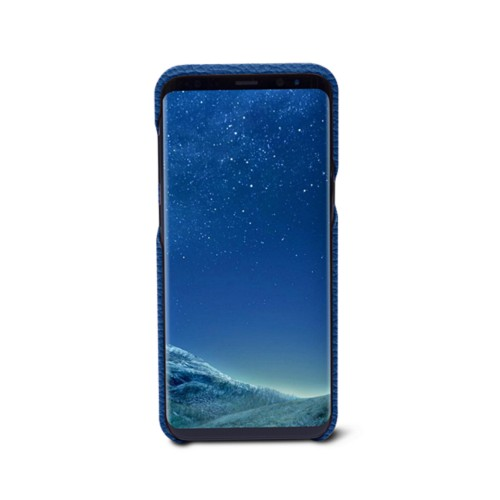 Samsung Galaxy S8+ Cover - Royal Blue - Granulated Leather