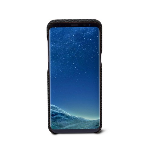 Samsung Galaxy S8+ Cover - Black - Granulated Leather