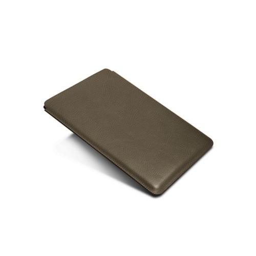 Hülle für iPad Pro 10.5-Zoll - Dunkeltaupe - Genarbtes Leder