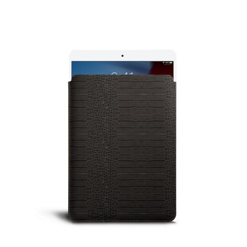 Protective Sleeve for iPad Air - Mouse-Grey - Crocodile style calfskin