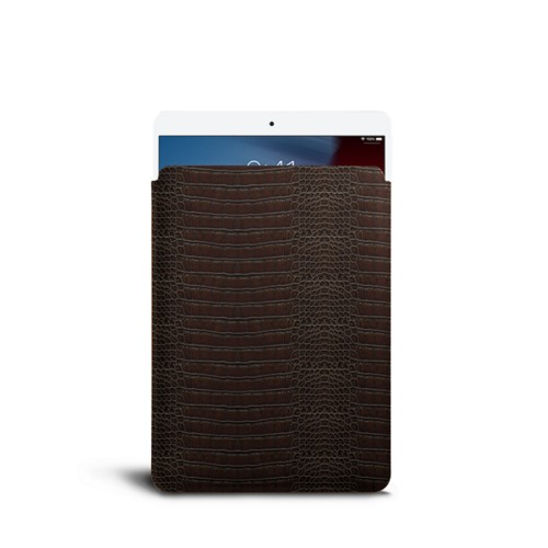 Protective Sleeve for iPad Air - Dark Brown - Crocodile style calfskin