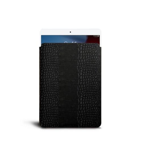 Protective Sleeve for iPad Air - Black - Crocodile style calfskin