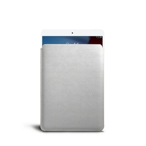 Housse pour iPad Air - Blanc - Cuir Grainé