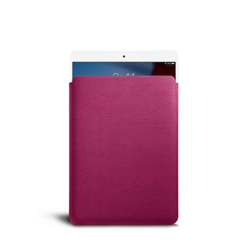 Protective Sleeve for iPad Air - Fuchsia  - Granulated Leather