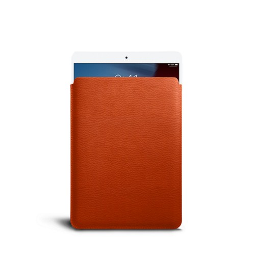 Protective Sleeve for iPad Air - Orange - Granulated Leather