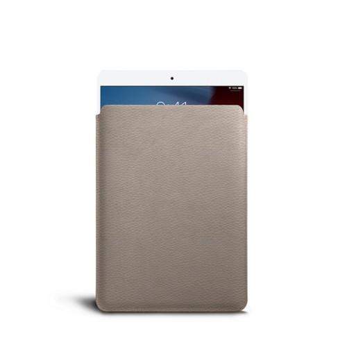 iPad Airプロテクティブスリーブ - Light Taupe - Granulated Leather