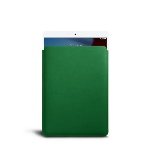 Protective Sleeve for iPad Air - Light Green - Smooth Leather
