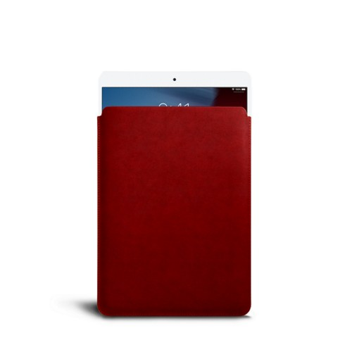 Protective Sleeve for iPad Air - Carmine - Vegetable Tanned Leather