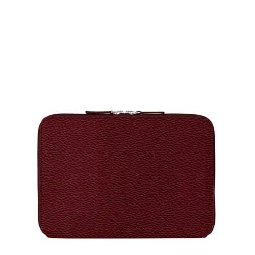Schutzhülle mit Reißverschluss für iPad Pro 10,5 Zoll - Weinrot - Genarbtes Leder