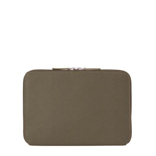 Schutzhülle mit Reißverschluss für iPad Pro 10,5 Zoll - Dunkeltaupe - Genarbtes Leder