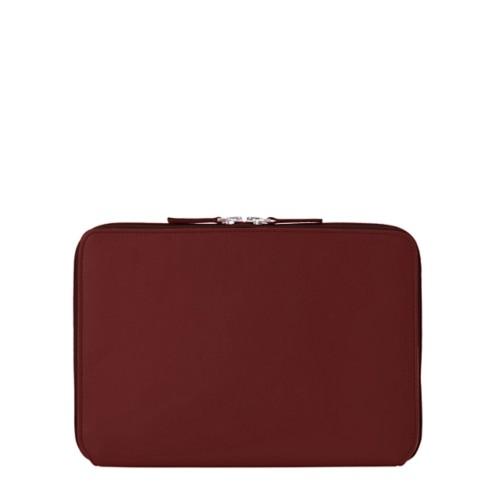 Schutzhülle mit Reißverschluss für iPad Pro 10,5 Zoll - Weinrot - Glattleder