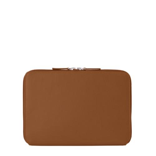 Schutzhülle mit Reißverschluss für iPad Pro 10,5 Zoll - Cognac - Glattleder
